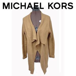 Michael Kors Brown Wool Blend Cardigan Medium